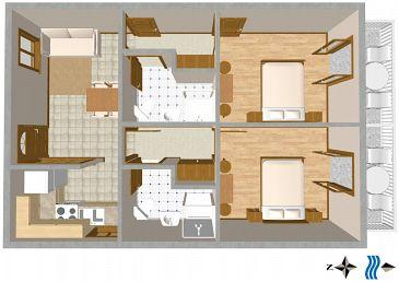 Apartment A-2616-b - Apartments and Rooms Podgora (Makarska) - 2616