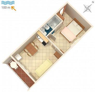 Studio flat AS-2617-e - Apartments Podaca (Makarska) - 2617