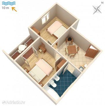 Apartment A-2619-a - Apartments Drvenik Donja vala (Makarska) - 2619
