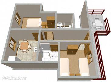 Apartment A-262-b - Apartments Mirca (Pelješac) - 262