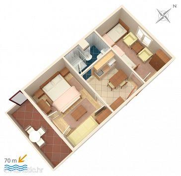 Apartment A-2621-b - Apartments Podaca (Makarska) - 2621