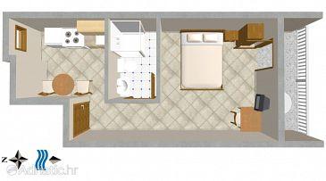 Studio flat AS-2622-a - Apartments Igrane (Makarska) - 2622