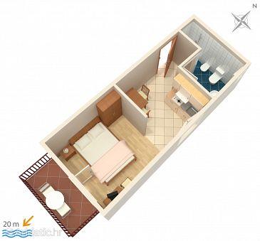 Studio flat AS-2623-a - Apartments and Rooms Podgora (Makarska) - 2623