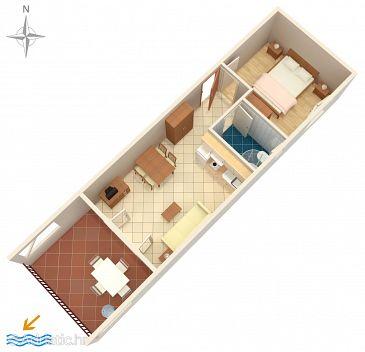 Apartment A-2627-d - Apartments Bratuš (Makarska) - 2627
