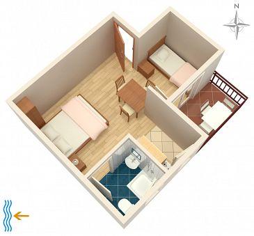 Studio AS-2633-b - Apartamenty Podaca (Makarska) - 2633