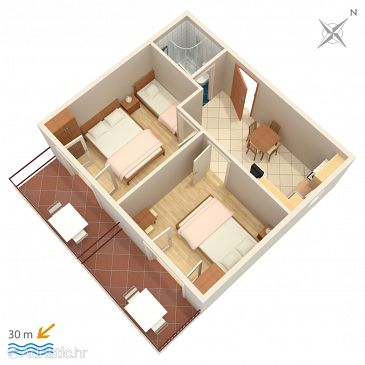 Apartment A-2640-a - Apartments and Rooms Makarska (Makarska) - 2640