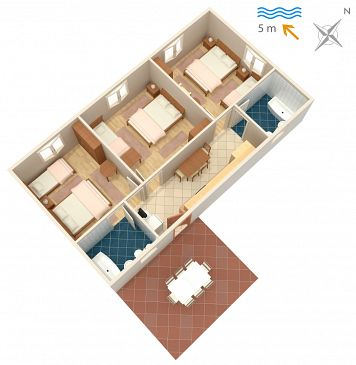 Apartament A-2647-b - Apartamenty Podaca (Makarska) - 2647