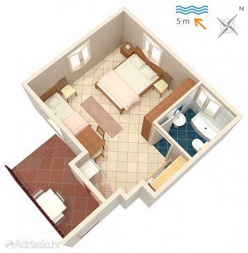 Studio flat AS-2647-b - Apartments Podaca (Makarska) - 2647
