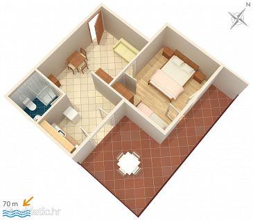Apartment A-2649-b - Apartments Zaostrog (Makarska) - 2649