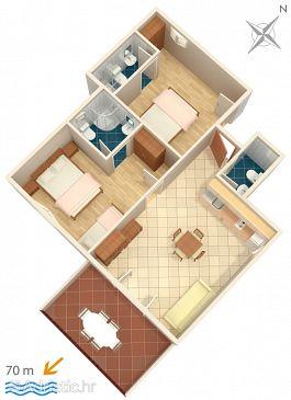 Apartment A-2649-d - Apartments Zaostrog (Makarska) - 2649