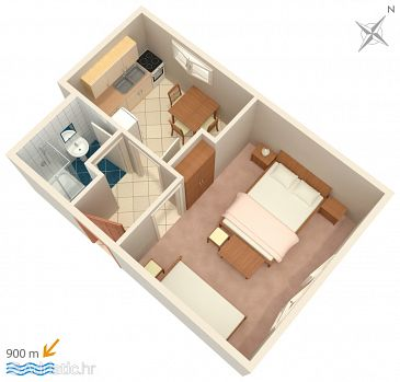 Apartment A-2653-b - Apartments Brela (Makarska) - 2653