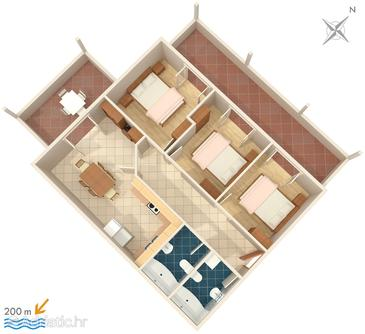 Apartment A-2665-b - Apartments Brela (Makarska) - 2665