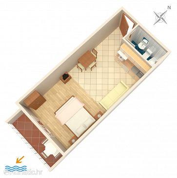 Studio flat AS-2679-b - Apartments Igrane (Makarska) - 2679