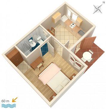 Apartament A-268-d - Apartamenty Orebić (Pelješac) - 268