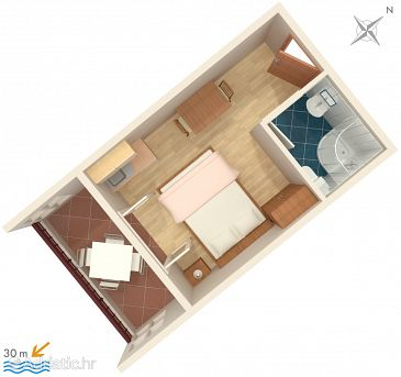 Studio flat AS-2680-a - Apartments Igrane (Makarska) - 2680