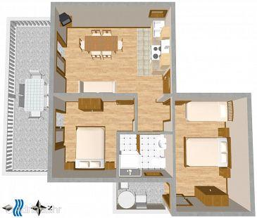 Apartment A-2691-b - Apartments Promajna (Makarska) - 2691