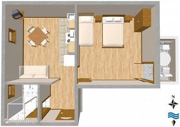 Apartment A-2691-c - Apartments Promajna (Makarska) - 2691