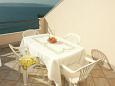 Bratuš, Terrace u smještaju tipa apartment, s pogledom na more i WIFI.