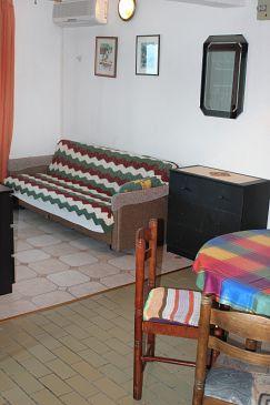 Tučepi, Living room u smještaju tipa apartment, dostupna klima i WIFI.
