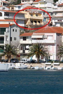 Property Baška Voda (Makarska) - Accommodation 2709 - Apartments with pebble beach.