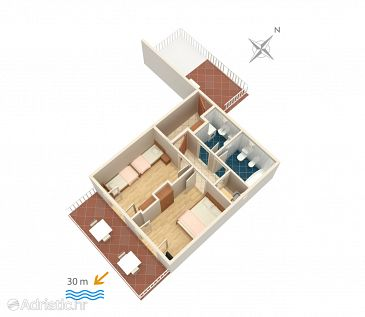 Apartment A-2711-a - Apartments Podaca (Makarska) - 2711