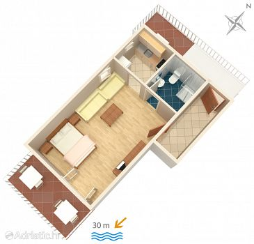 Studio flat AS-2711-a - Apartments Podaca (Makarska) - 2711