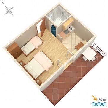 Studio flat AS-2713-a - Apartments Brela (Makarska) - 2713