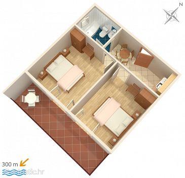Apartment A-2717-a - Apartments and Rooms Brela (Makarska) - 2717