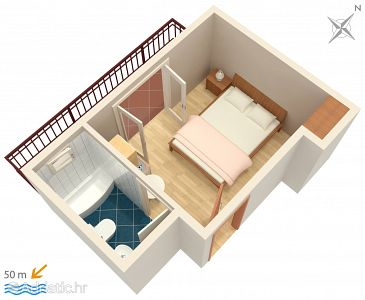 Studio flat AS-2718-c - Apartments Brela (Makarska) - 2718