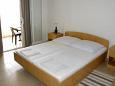 Orebić, Bedroom u smještaju tipa studio-apartment, dostupna klima i WIFI.