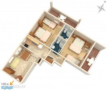 Apartment A-2721-b - Apartments Tučepi (Makarska) - 2721