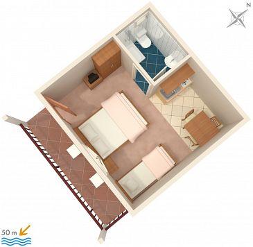 Studio AS-2732-c - Apartamenty Drvenik Donja vala (Makarska) - 2732