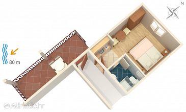 Studio flat AS-2735-b - Apartments Gradac (Makarska) - 2735