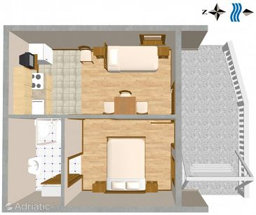 Studio flat AS-2737-a - Apartments Duće (Omiš) - 2737