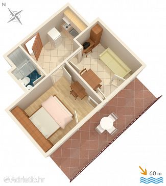 Apartment A-275-c - Apartments Orebić (Pelješac) - 275