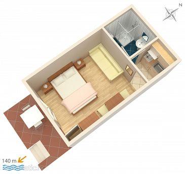 Studio flat AS-2752-a - Apartments and Rooms Brela (Makarska) - 2752