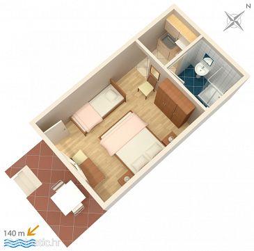 Studio flat AS-2752-c - Apartments and Rooms Brela (Makarska) - 2752