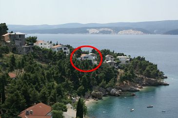 Property Balića Rat (Omiš) - Accommodation 2753 - Apartments near sea with pebble beach.