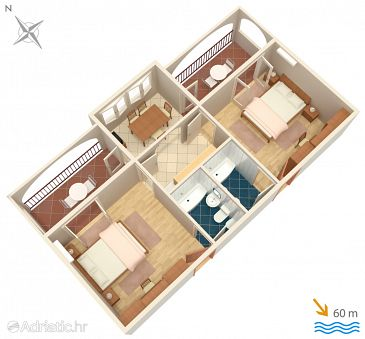 Apartment A-2756-e - Apartments Baška Voda (Makarska) - 2756