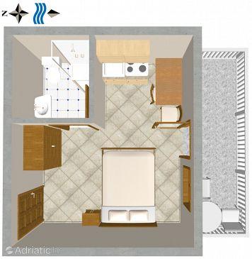 Studio flat AS-2757-a - Apartments Omiš (Omiš) - 2757