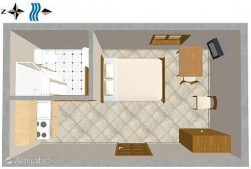 Studio flat AS-2757-b - Apartments Omiš (Omiš) - 2757