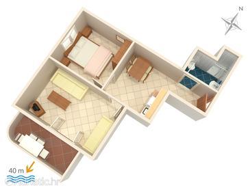 Apartment A-2767-d - Apartments Duće (Omiš) - 2767