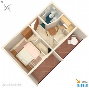 Apartment A-2818-c - Apartments Stanići (Omiš) - 2818