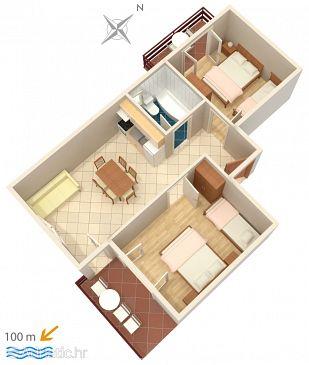 Apartment A-2821-a - Apartments Duće (Omiš) - 2821