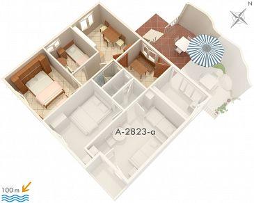 Apartament A-2823-b - Apartamenty Omiš (Omiš) - 2823