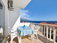 Pisak, Terrace u smještaju tipa apartment, s pogledom na more, dopusteni kucni ljubimci i WIFI.