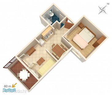 Apartment A-2831-a - Apartments Lokva Rogoznica (Omiš) - 2831