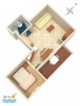 Apartament A-2831-b - Apartamenty Lokva Rogoznica (Omiš) - 2831