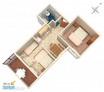 Apartment A-2831-c - Apartments Lokva Rogoznica (Omiš) - 2831