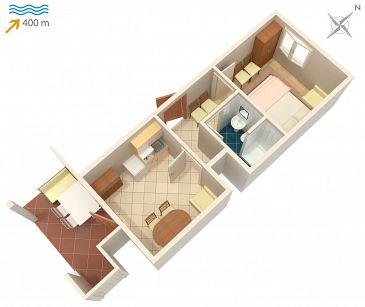 Apartament A-2843-c - Apartamenty Mirca (Brač) - 2843